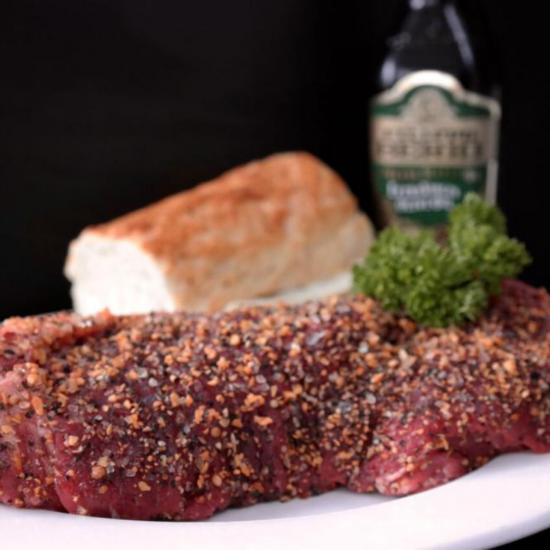 4x 6oz Peppered or Plain Ribeye Steaks