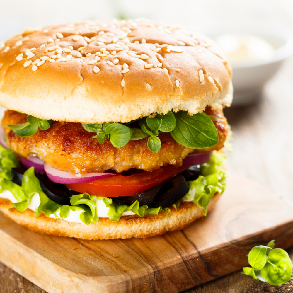 4x 4oz Hand-made Breaded Chicken Burgers