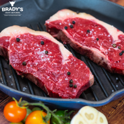6 x 6oz Sirloin Steaks (Peppered or Plain)