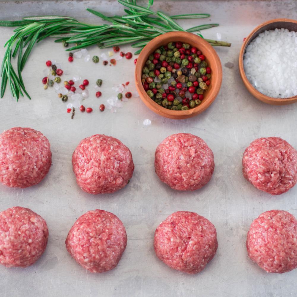 12x Plain Meatballs